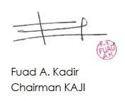 Chairman Kaji Sign